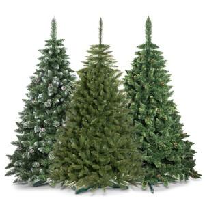 3 verschiedene Modelle künstliche weihnachtsbaueme